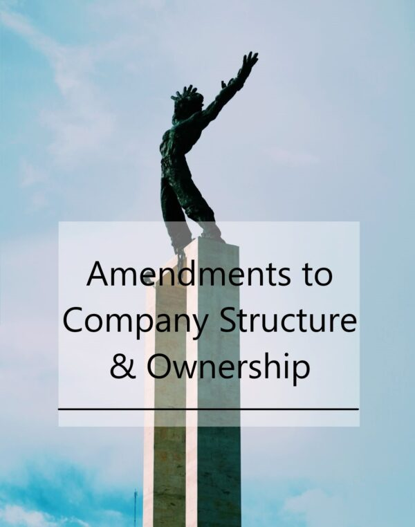 Amendments to Company Structure